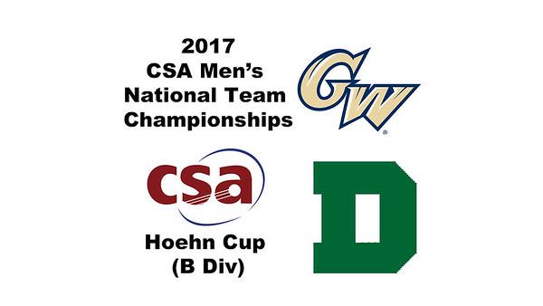 2017 MCSA Team Championships - Hoehn Cup: Oisin Logan (George Washington) and Carson Spahr (Dartmouth)