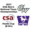 2017 MCSA Team Championships - Hoehn Cup: Mahmoud Abdel-Maksoud (George Washington) and Gavin Maxwell (Western Ontario)