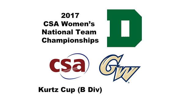2017 WCSA Team Championships - Kurtz Cup: Mary Jo Mahfood (George Washington) and Julia Potter (Dartmouth)