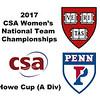 2017 WCSA Team Championships - Howe Cup: Melissa Alves (Penn)and Georgina Kennedy (Harvard)