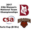 2017 WCSA Team Championships - Kurtz Cup: Hannah Hay-Smith (Brown) and	Victoria Arjoon (Bates)