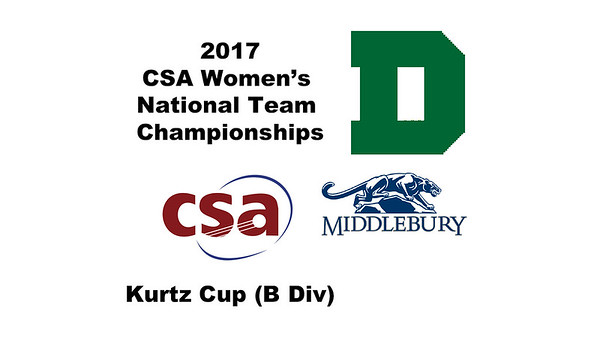 2017 WCSA Team Championships - Kurtz Cup: Janel Gaube (Dartmouth) and Lucy Bostwick (Middlebury)