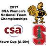 2017 WCSA Team Championships - Howe Cup: Anna Kimberley (Trinity) and Zandra Ho (Stanford)