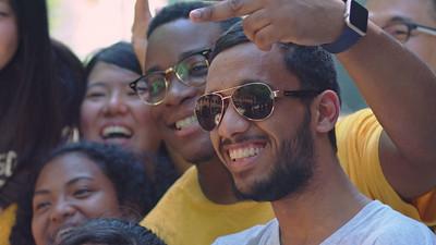 International Students Around Fairfax Campus B-Roll