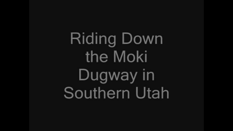 "Riding the Moki Dugway. <br /> Video of riding down the Moki Dugway in Southern Utah. To the music of Three Doors Down ""Superman"". A fun video to watch."