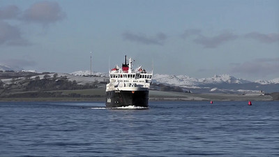 'Caledonian Isles' - at Greenock for her Winter Refit