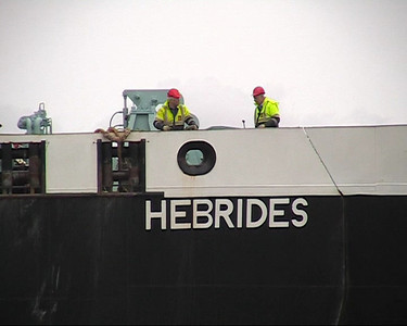 Hebrides Lining Up for Dry Dock Entry