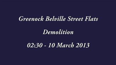 Demolition of the Belville Street High Flats