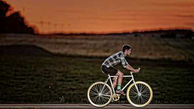 Christian - Bike at sunset