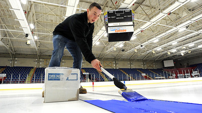 Making ice at the Androscoggin Bank Colisee
