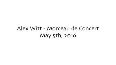 Alex Witt - Morceau de Concert