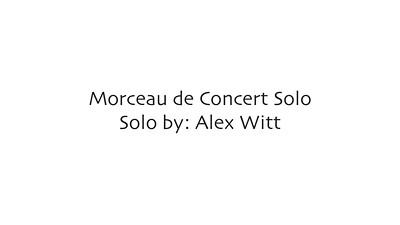 Morceau de Concert - Solo By Alex Witt