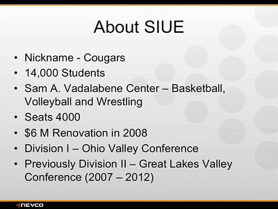 SEGMENT ONE SIUE SITE TOUR INTRO PRODUCED BY TOM ATWOOD MEDIA RUNS: 4:58