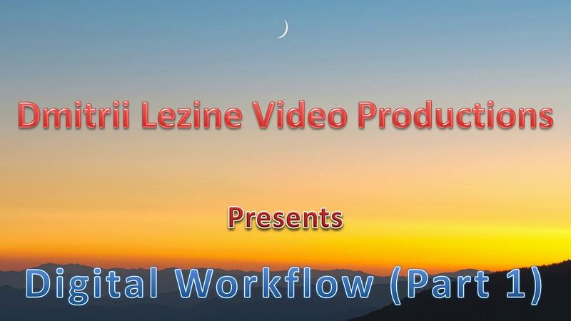 Digital Workflow Part 1