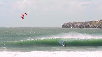 Pro kitesurfer Paulino Pereira and his Ozone Reo v5