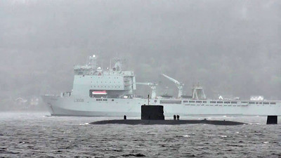 T- Class Submarine on Exercise in Loch Long