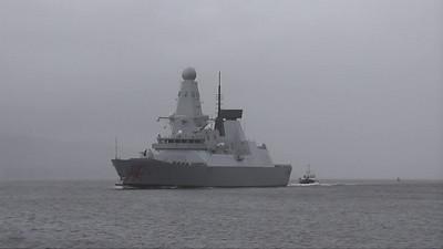 (HMS) Dragon on first sea trials