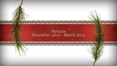 December 2012 - March 2013