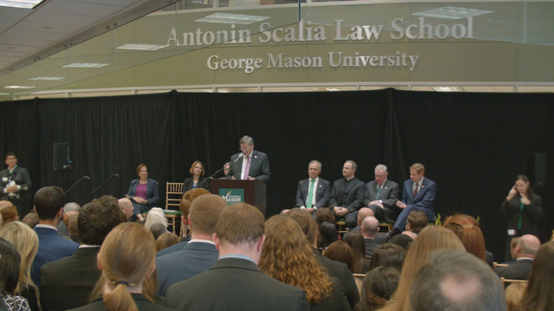 Antonin Scalia Law School Dedication B-Roll