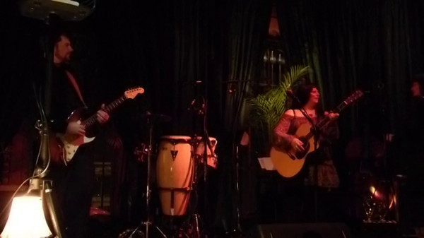 Elana Hyner of Acoustic River Rats performs with her daughter Brittany