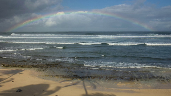 Morning Rainbow on the North Shore  March 15, 2010  Music: Somewhere Over the Rainbow by Iz Kamakawiwo'ole