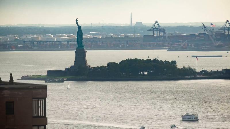 Statue of Liberty Foggy PM