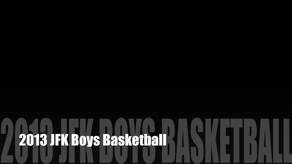 2013 Boys Basketball