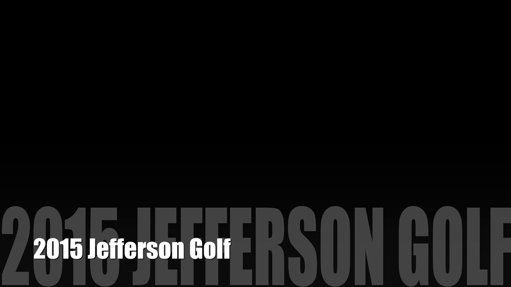 2015 Jefferson Golf