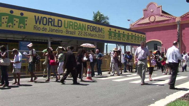 The UN's World Urban Forum in Rio de Janeiro, Brazil.