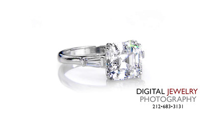 Ascher Cut 3 Stone Baguette Ring on White_1