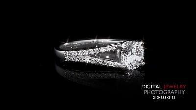 Split Shank Round  Diamond Ring