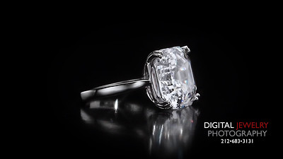Square Emerald Cut Diamond Solitaire Ring 02