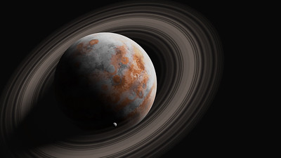 Gas Giant with Moon
