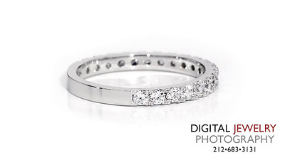 Half Eternity Diamond Ring Band On White_1