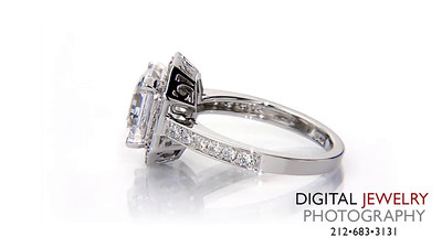 ascher cut halo diamond ring on white_1