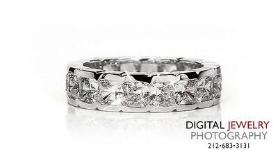 Cushion Cut Diamond Eternity Ring On White_1