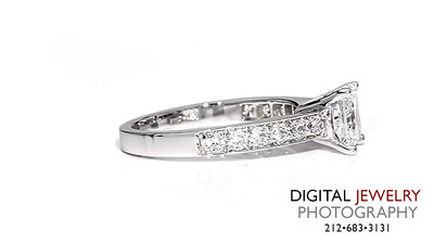 Princess Cut Diamond Melee Ring On White_1