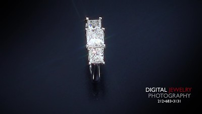 1 50ct 3 Stone Princess Diamond Ring 007