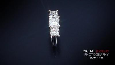 1 50ct 3 Stone Princess Diamond Ring 007