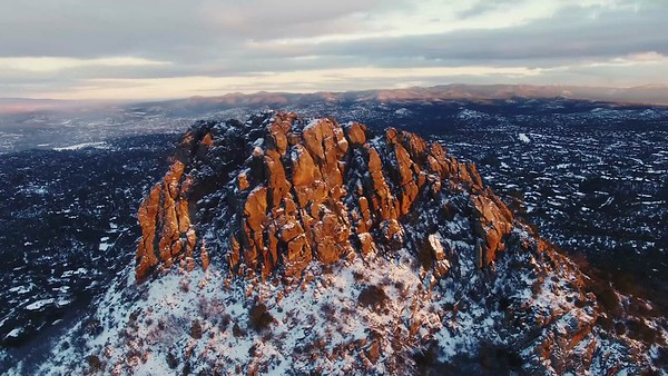 Aerial Video: Thumb Butte Winter Flyby