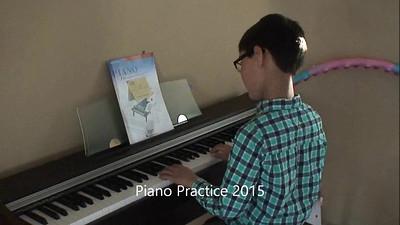 Iain Piano Practice & Recital 2015, 2016