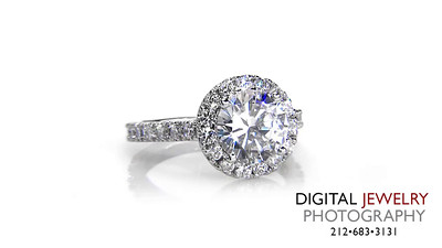 Round Diamond Halo Diamond Ring Melee on White_1