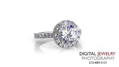 Round Diamond Halo Diamond Ring Melee on White_1