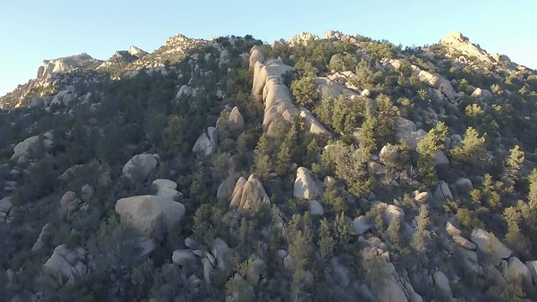 Aerial Video: Ice Covered Granite Basin Lake