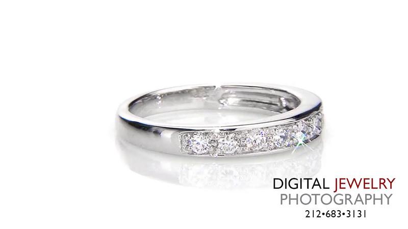 Half Eternity Diamond Melee Ring on white_1