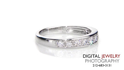 Half Eternity Diamond Melee Ring on white_1