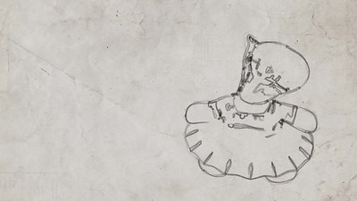 20171020 - Charcoal Ballerina Hippo Sketch (Animation)