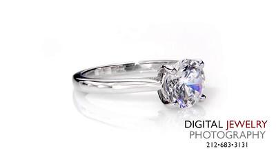 Round Diamond Solitaire Ring  on white_1