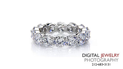 Round Eternity Diamond Ring on White_1