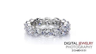 Round Eternity Diamond Ring on White_1